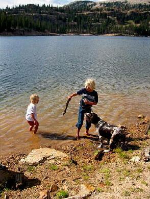 Notch mountain trail uinta mtns for Utah fishing regulations