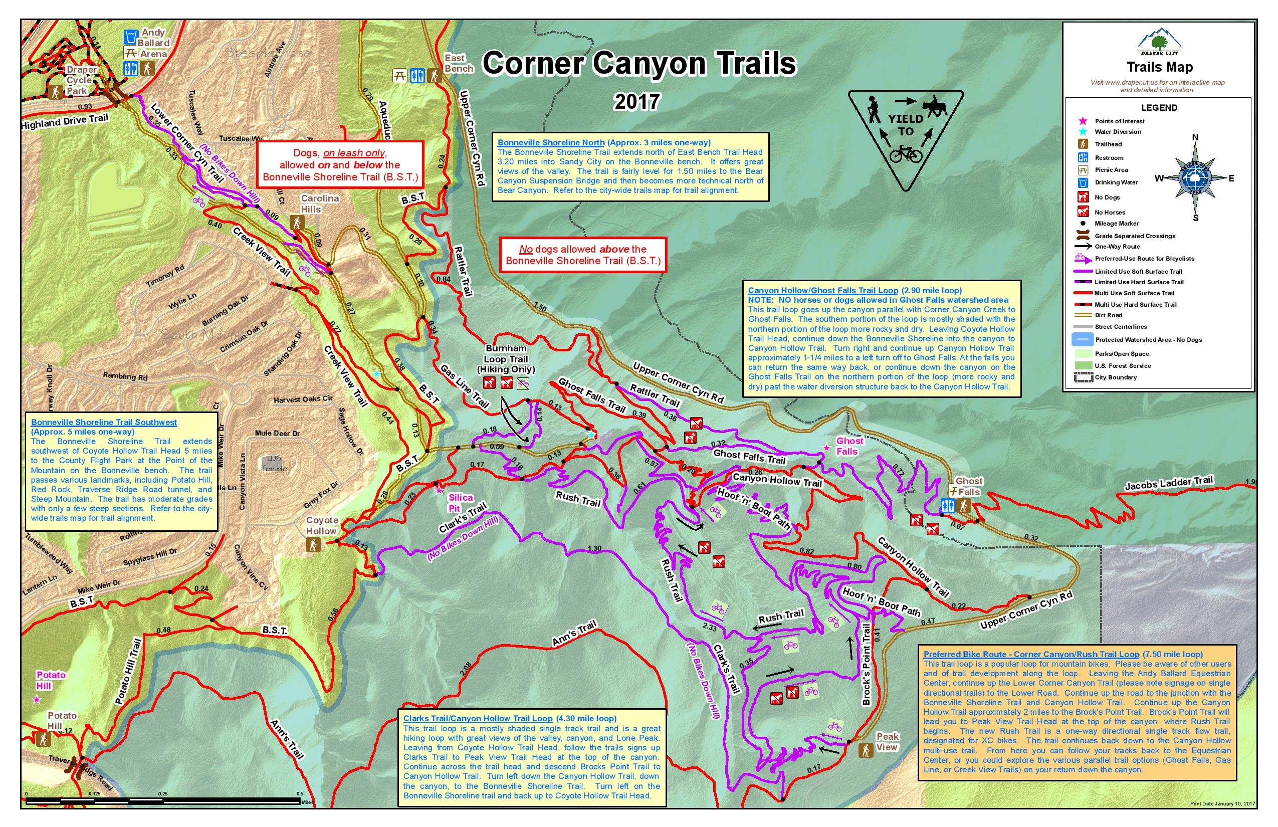 Corner Canyon Trails - Wasatch Mountains