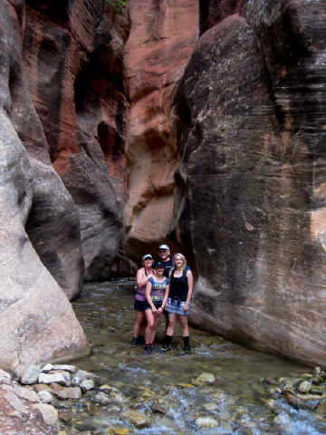 The family at the beginning of the Kanarra Creek slot