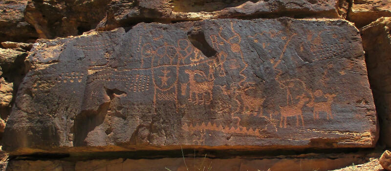 Petroglyphs in Nine Mile Canyon