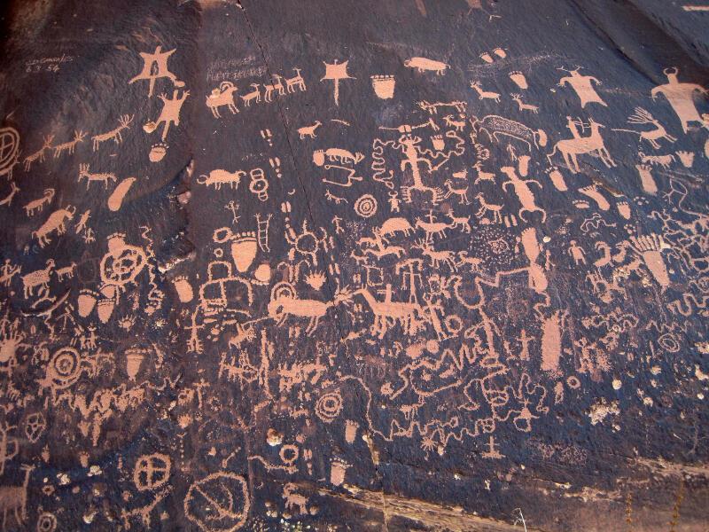Petroglyphs Utah Newspaper Rock Newspaper Rock Utah State