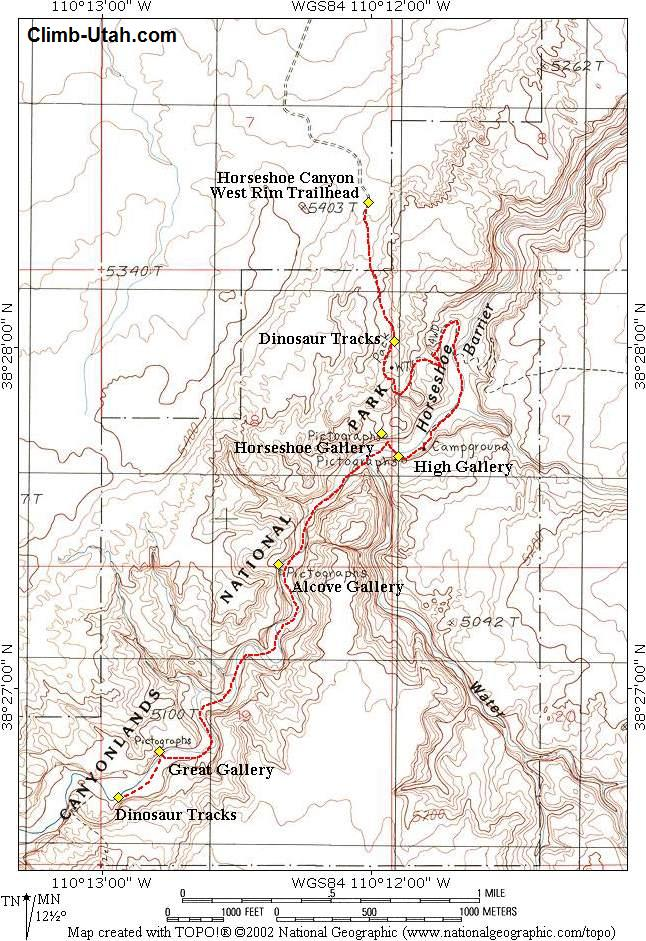 Click Here For Canyon Map