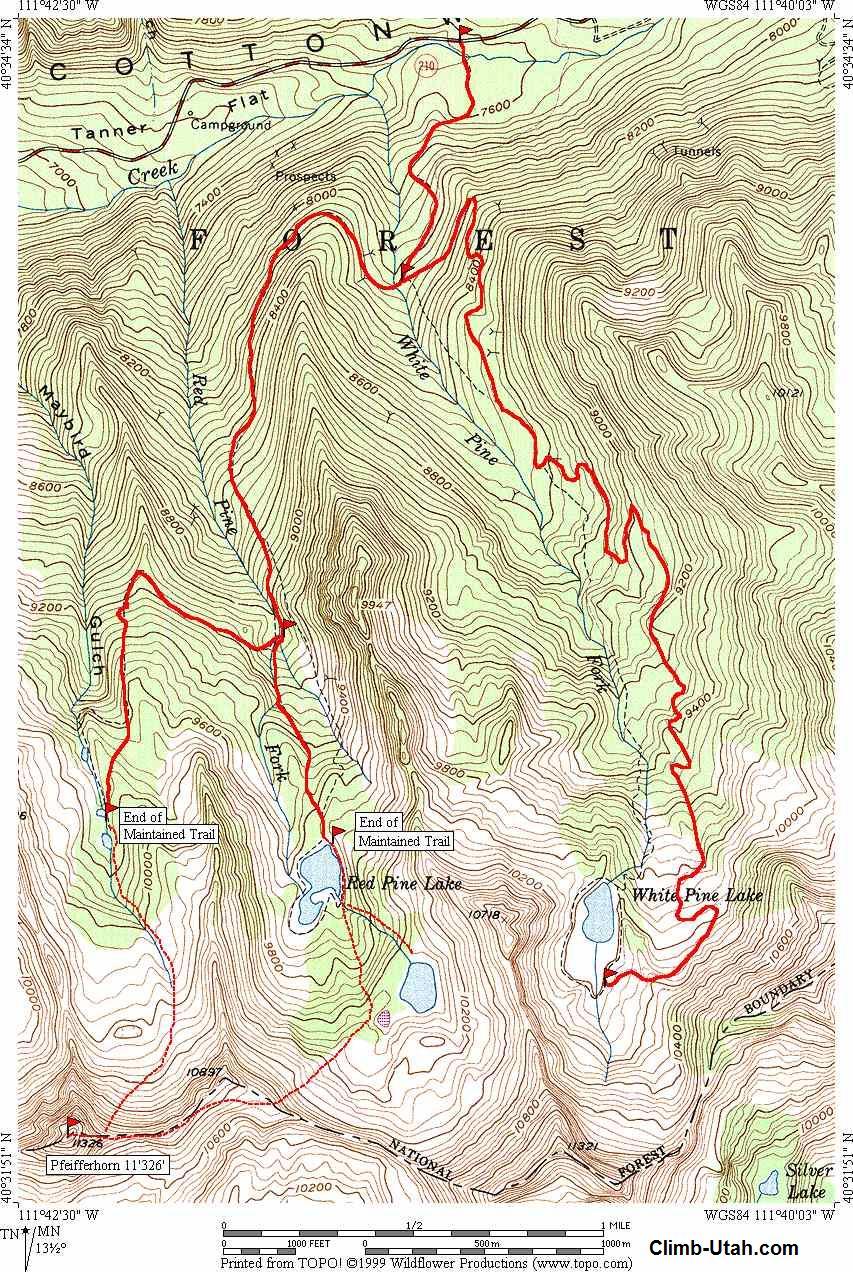 Pfeifferhorn - Wasatch Mountains - Mountaineering & Hiking