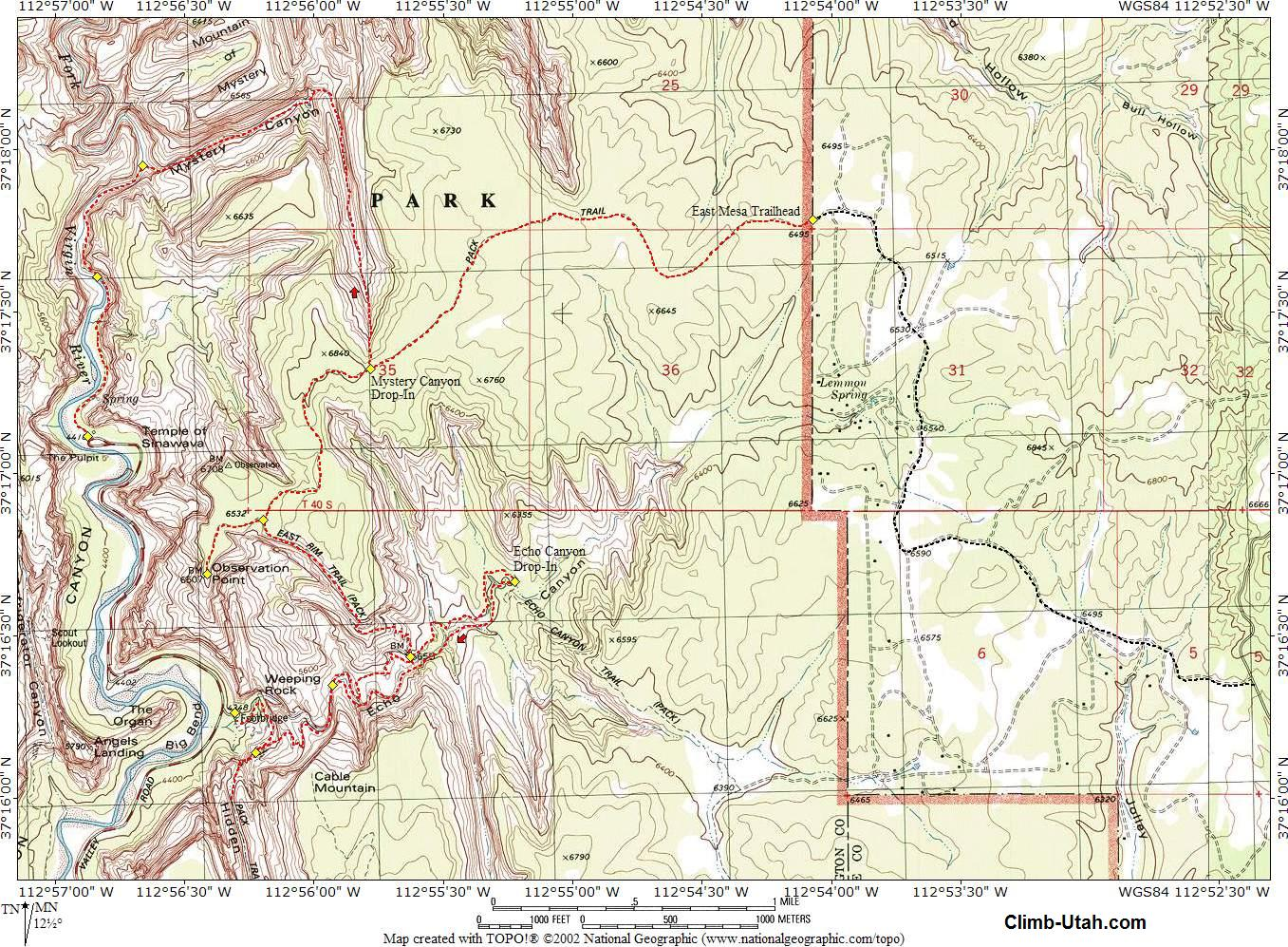 Mystery Canyon Map