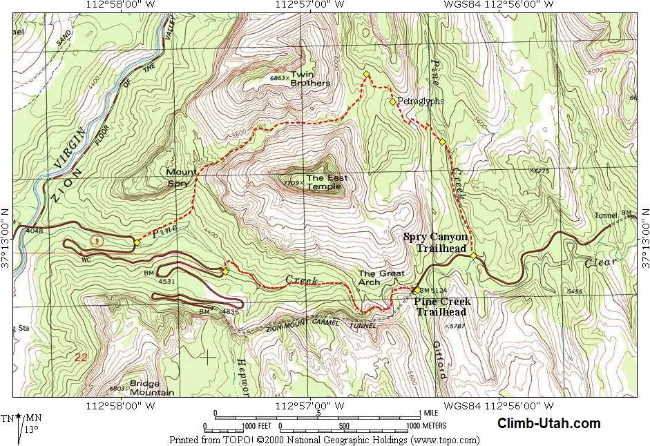 Pine Creek Zion National Park Canyoneering